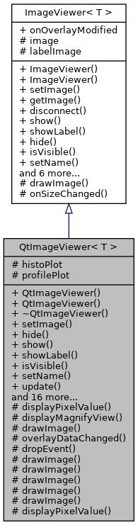 SMIL: QtImageViewer< T > Class Template Reference